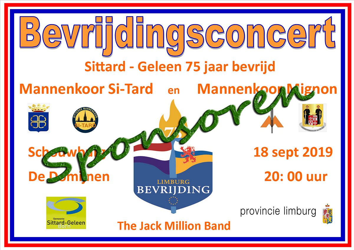 bevijdingsconcert sponsoren